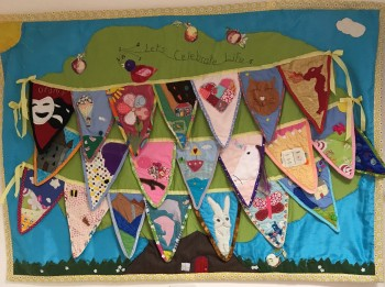 """Let's Celebrate Life"" Collaboration between 20 children."